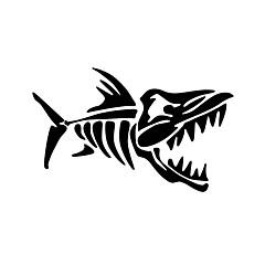 balık kemikleri komik araba sticker araba pencere duvar çıkartma araba styling