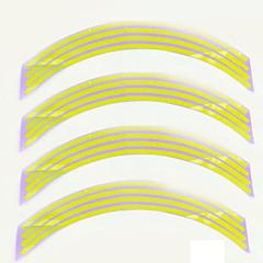 abordables Pegatinas para Coche-accesorios del coche moto cinta de polietileno tereftalato de la motocicleta pegatina rueda raya borde reflectante moda