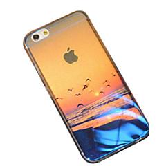 Недорогие Кейсы для iPhone 6 Plus-Кейс для Назначение Apple iPhone 6 iPhone 6 Plus С узором Кейс на заднюю панель Пейзаж Мягкий Силикон для iPhone 7 Plus iPhone 7 iPhone