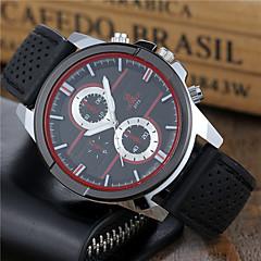 preiswerte Herrenuhren-Herrn Sportuhr Armbanduhr Quartz Schwarz / Weiß / Rot Armbanduhren für den Alltag Cool Analog Freizeit Modisch Kleideruhr - Schwarz Schwarz / Weiß Weiß / Rot
