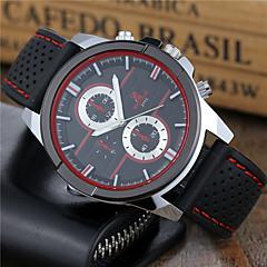 preiswerte Herrenuhren-Herrn Sportuhr / Armbanduhr Armbanduhren für den Alltag / Cool Silikon Band Freizeit / Modisch / Kleideruhr Schwarz / Weiß / Rot