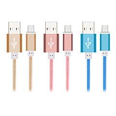 doppelseitigen Blitz 8-Pin-und Micro-USB-Daten / Ladekabel für iPhone und Samsung (Farbe sortiert)