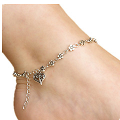 Kadın Ayak bileziği/Bilezikler alaşım Aşk Heart Shape Mücevher Uyumluluk Günlük