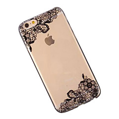 For iPhone 6 etui iPhone 6 Plus etui Transparent Mønster Etui Bagcover Etui blondedesign Blødt TPU for iPhone 6s Plus/6 Plus iPhone 6s/6