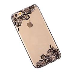 Недорогие Кейсы для iPhone-Кейс для Назначение Apple iPhone 6 iPhone 6 Plus Прозрачный С узором Кейс на заднюю панель Кружева Печать Мягкий ТПУ для iPhone 6s Plus