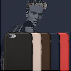 baratos Capinhas para iPhone6s-Capinha Para Apple iPhone 8 / iPhone 8 Plus / iPhone 6 Plus Capa traseira Sólido Rígida PU Leather para iPhone 8 Plus / iPhone 8 / iPhone 6s Plus