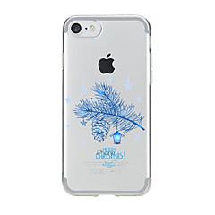 Недорогие Кейсы для iPhone 5-Кейс для Назначение Apple Кейс для iPhone 5 iPhone 6 iPhone 7 Прозрачный С узором Кейс на заднюю панель Рождество Мягкий ТПУ для iPhone 7