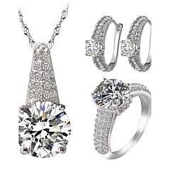 Dames Sieraden Set Bergkristal imitatie Diamond Liefde Luxe Sieraden Kostuum juwelen Zirkonia Kubieke Zirkonia Strass Legering 1 Ketting