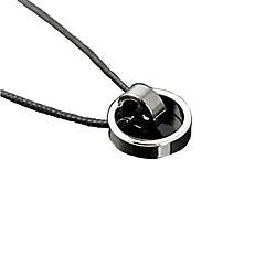 Бижутерия Ожерелья с подвесками Для вечеринок / Повседневные Титановая сталь Мужчины Черный Свадебные подарки