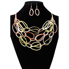 preiswerte Halsketten-Damen Rollen - Mehrfarbig Regenbogen, Pink-violett, Champagner Modische Halsketten Schmuck Für Hochzeit, Party