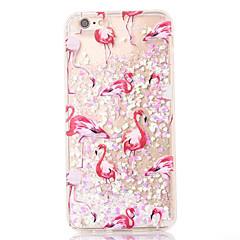 Назначение iPhone 8 iPhone 8 Plus iPhone 7 iPhone 7 Plus iPhone 6 Чехлы панели Движущаяся жидкость Задняя крышка Кейс для Фламинго Мягкий