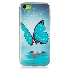 billige iPhone 5-etuier-Etui Til Apple iPhone 5 etui iPhone 6 iPhone 7 Lyser i mørket IMD Bagcover Sommerfugl Blødt TPU for iPhone 7 Plus iPhone 7 iPhone 6s Plus