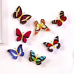 abordables Por Menos de $1.99-1 unid llevó la luz de la noche atmósfera lámpara con colorido cambio de luz interior de la mariposa con ventosa home party escritorio decoración de la pared