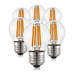 preiswerte LED-Birnen-KWB 6pcs 400 lm E26/E27 LED Glühlampen G45 4 Leds COB Warmes Weiß AC 220-240 V
