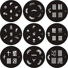 お買い得  へルス&ビューティー-画像テンプレートプレートMシリーズをスタンプアートスタンプを爪