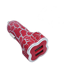 High Quality Plum-like Cracks Dual-USB Car Charger Cigarette Lighter Power Adapter for Smartphones and Tabs 5V 3.1A