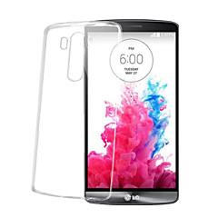 Недорогие Чехлы и кейсы для LG-Кейс для Назначение LG G2 LG G3 LG LG G5 LG G4 Кейс для LG Прозрачный Кейс на заднюю панель Сплошной цвет Мягкий ТПУ для