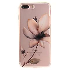 Недорогие Кейсы для iPhone-Кейс для Назначение Apple iPhone 8 / iPhone 8 Plus IMD / Прозрачный / С узором Кейс на заднюю панель Цветы Мягкий ТПУ для iPhone 8 Pluss / iPhone 8 / iPhone 7 Plus