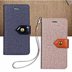 Недорогие Кейсы для iPhone 7 Plus-Кейс для Назначение Apple iPhone 7 / iPhone 7 Plus / iPhone 6 Кошелек / Бумажник для карт / со стендом Чехол Однотонный Твердый текстильный для iPhone 7 Plus / iPhone 7 / iPhone 6s Plus