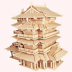 Puzzles Holzpuzzle Bausteine Spielzeug zum Selbermachen Berühmte Gebäude Chinesische Architektur Haus 1 Holz ElfenbeinModel & Building