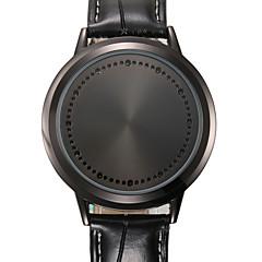 voordelige Bekijk deals-Heren Kwarts Sporthorloge Kalender Grote wijzerplaat Echt leer Band Vintage Creatief Informeel Uniek creatief horloge Dress horloge