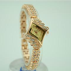 billige Dameure-Dame Quartz Armbåndsur Imiteret Diamant Legering Bånd Vedhæng Kjoleur Elegant Mode Guld