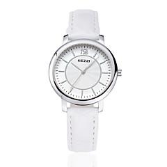 preiswerte Armbanduhren für Paare-KEZZI Paar Armbanduhr Schlussverkauf PU Band Freizeit / Modisch Schwarz / Weiß / Braun