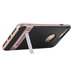 Назначение iPhone X iPhone 8 iPhone 7 iPhone 7 Plus iPhone 6 Чехлы панели со стендом Задняя крышка Кейс для Сплошной цвет Твердый PC для
