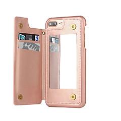 Недорогие Кейсы для iPhone 6 Plus-Кейс для Назначение Apple iPhone 8 iPhone 8 Plus iPhone 6 iPhone 7 Plus iPhone 7 Бумажник для карт Защита от пыли Зеркальная поверхность