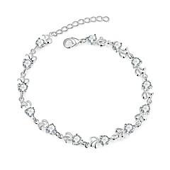 Bracelet Chain Bracelet Charm Bracelet Zircon Copper Silver Plated Flower Fashion Punk Hip-HopAnniversary Birthday Gift Valentine