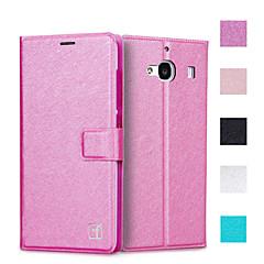 asling védő flip-nyitva műbőr tokban teljes test hitelkártya-tulajdonos slot luxus mobiltelefon táska Xiaomi redmi 2