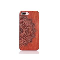 Для Защита от удара Рельефный С узором Кейс для Задняя крышка Кейс для Мандала Твердый Дерево для AppleiPhone 7 Plus iPhone 7 iPhone 6s