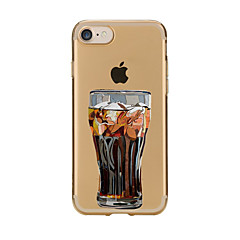 Недорогие Кейсы для iPhone 6 Plus-Кейс для Назначение Apple Кейс для iPhone 5 iPhone 6 iPhone 7 Прозрачный С узором Кейс на заднюю панель Мультипликация Мягкий ТПУ для