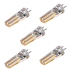 abordables Ampoules LED-5pcs 4W 300-400 lm GY6.35 LED à Double Broches T 36 diodes électroluminescentes SMD 3014 Blanc Chaud 2800-3200K DC 12 AC 12 AC 24 DC 24V