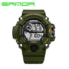 halpa Miesten kellot-SANDA Miesten Armeijakello Smart Watch Muotikello Rannekello Urheilukello Digitaalinen Japanilainen kvartsi Kalenteri LED