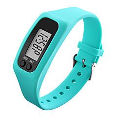 preiswerte Herrenuhren-Herrn / Damen Sportuhr / Armbanduhr / Digitaluhr Schrittzähler / LCD / Cool Caucho Band Schwarz / Weiß / Blau / Mehrfarbig