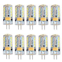preiswerte LED-Birnen-10 Stück 3 W 250-300 lm G4 LED Doppel-Pin Leuchten T 57 LED-Perlen SMD 3014 Warmes Weiß / Kühles Weiß 12 V / RoHs