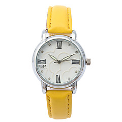 voordelige Dameshorloges-Dames Modieus horloge / Vrijetijdshorloge / Leer Band Informeel Wit