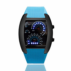 お買い得  メンズ腕時計-男性用 リストウォッチ カレンダー / クリエイティブ ラバー バンド ブラック / 2年 / パナソニックCR2032