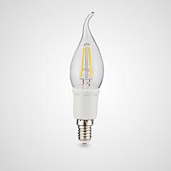 preiswerte LED-Birnen-3W E12 LED Glühlampen B 4 COB 380/300 lm Warmes Weiß Kühles Weiß AC 110-130 V 1 Stück