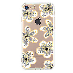 cheap iPhone Cases-For Apple iPhone 7 7Plus 6S 6Plus Case Cover White Flowers Pattern HD TPU Phone Shell Material Phone Case
