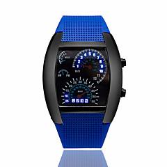 お買い得  大特価腕時計-男性用 リストウォッチ カレンダー / クリエイティブ ラバー バンド ブラック