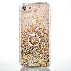 Til iPhone 8 iPhone 8 Plus iPhone 7 iPhone 7 Plus iPhone 6 Etuier Flydende væske Ringholder Bagcover Etui Glitterskin Hårdt PC for Apple