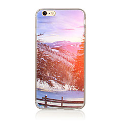 olcso iPhone 5 tokok-Case Kompatibilitás Apple iPhone 5 tok iPhone 6 iPhone 7 Minta Fekete tok Látvány Puha TPU mert iPhone 7 Plus iPhone 7 iPhone 6s Plus