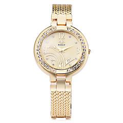 preiswerte Tolle Angebote auf Uhren-Damen Quartz Simulierter Diamant Uhr Armband-Uhr Imitation Diamant Legierung Band Blume Elegant Modisch Silber Gold Rotgold