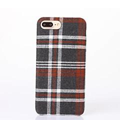 Недорогие Кейсы для iPhone 7-Кейс для Назначение Apple iPhone 6 iPhone 7 Plus iPhone 7 С узором Кейс на заднюю панель Геометрический рисунок Твердый текстильный для