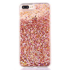 cheap iPhone Cases-For iPhone 8 iPhone 8 Plus iPhone 7 iPhone 7 Plus iPhone 6 Case Cover Flowing Liquid Back Cover Case Glitter Shine Hard PC for Apple