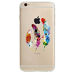 Для Ультратонкий С узором Кейс для Задняя крышка Кейс для Перо Мягкий TPU для AppleiPhone 7 Plus iPhone 7 iPhone 6s Plus/6 Plus iPhone