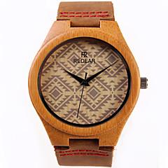 preiswerte Damenuhren-Redear Damen Armbanduhr Quartz Armbanduhren für den Alltag / Holz Band Analog Freizeit Modisch Holz Braun - Kaffee