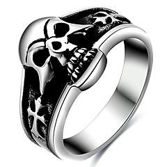 お買い得  大特価腕時計-男性用 指輪 ステートメントリング シルバー チタン鋼 ファッション パーティー Halloween 日常 カジュアル コスチュームジュエリー